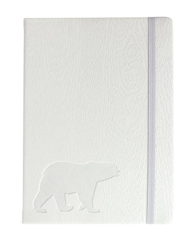 """Red Co""""Polar Bear"""" Journal, 240 Pages, 5""""x 7"""" Lined, White"""