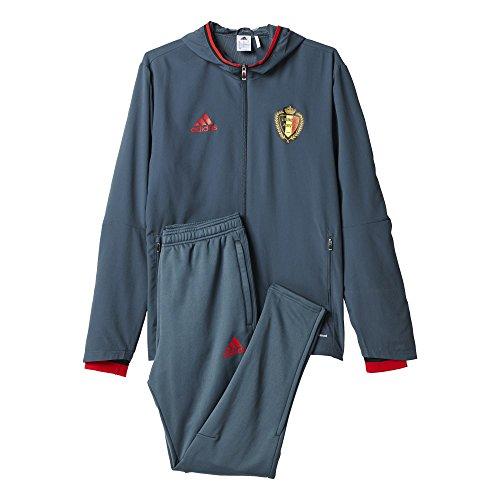 adidas Herren Trainingsanzug RBFA PRES Suit, Grau / Rot, M, 4055343839103