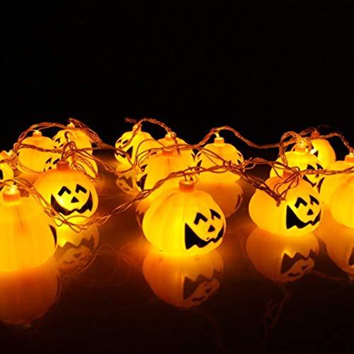 Abenily - Cadena de luz LED para Halloween, luz solar de calabaza impermeable de 20 luces LED para decoración de festivales, 3,5 metros, decoración de fiesta de Halloween, 5meters