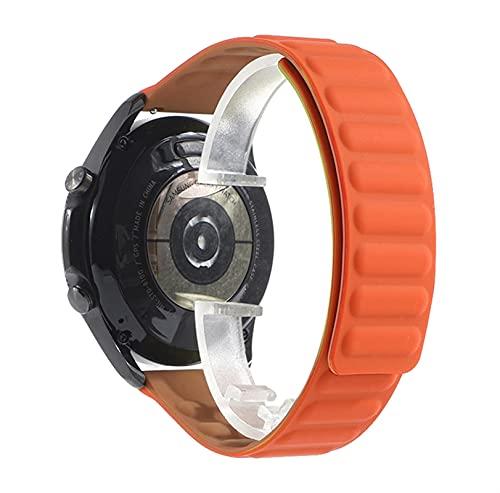 WWXFCA Correa de reloj para Samsung Galaxy Watch 3 de 46 mm y 42 mm de silicona, 22 mm, para Huawei Watch GT 2 (Color de la correa: Danxia, ancho de la correa: 22 mm)