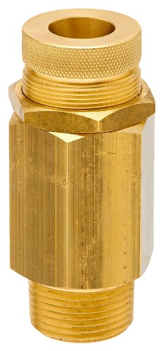 "Control Devices VR Series Brass Vacuum Relief Valve, 0-30"" Hg Vacuum Range, 1/4"" Male NPT"