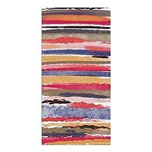 Alfombra Vinílica, Rayas de Acuarela, Multicolor, 140 x 70 x 0.22 cm, Alfombra de Vinilo para Cocina, Antideslizante y Lavable, ALV-122