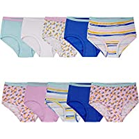 10 Pack Fruit of the Loom Girls' Cotton Brief Underwear
