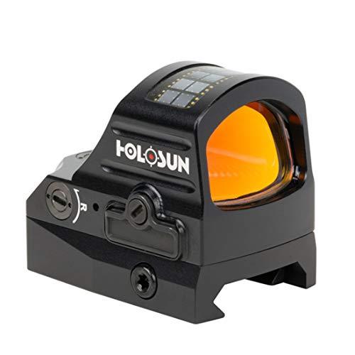 Holosun HS507C-X2 Offenes Reflex Rotpunktvisier + wechselbarem 2MOA Punkt, 32MOA Kreis Absehen Solarzelle, schwarz, Picatinny/Weaver Schiene, Jagd, Sportschießen Softair, TA… - 70149043