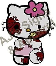 hello kitty zombie sticker
