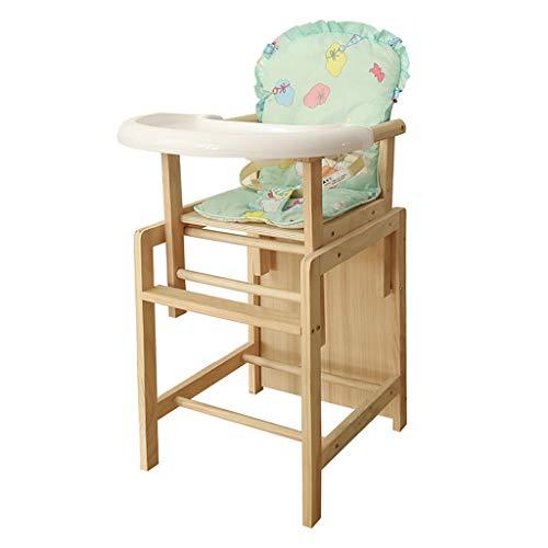 en Bois Multifonction Chaise Haute, Ergonomique Chaise de Salle à Manger pour bébé avec Plateau de Protection de l'environnement, Hauteur réglable Facile à Nettoyer