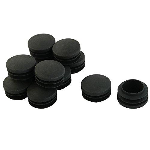 16 mm-Insert du Tube rond Cache//Bouchon Noir Lot de 100-Plastique