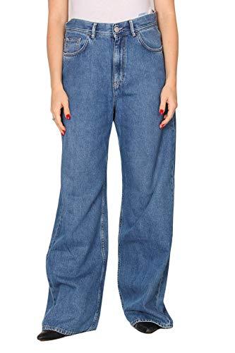 Haikure Jeans A Palazzo Korea A Vita Alta Made in Italy