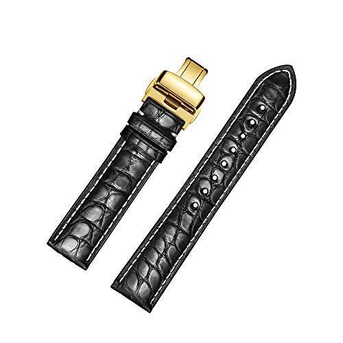 Cinturino di ricambio jiexima in pelle di vitello con fibbia in oro (18 mm,...