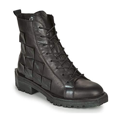 Papucei Stiefel Boots Gr. 36 Leder MEI Black Schwarz Damen