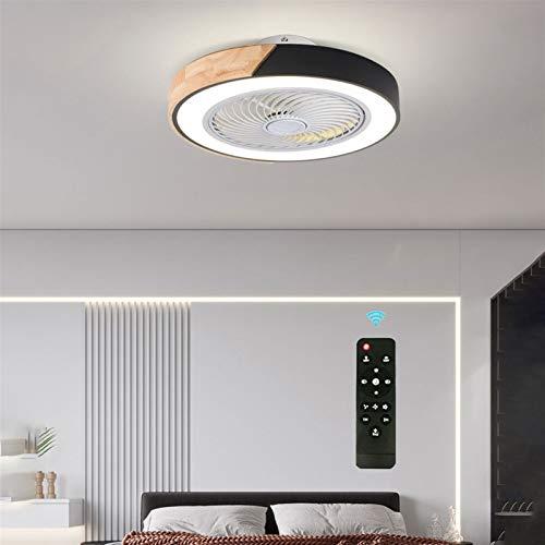 YXIAOJ LED Unsichtbares Fan Deckenventilator Deckenventilator Mit Beleuchtung & Fernbedienung Leise Dimmbar Moderne Deckenleuchte Für Ventilator Kinderzimmer (Farbe : A)