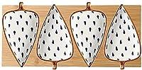 LPZY ミニサイドの調味料の葉の形のセラミックソースの皿3.35インチ調味料食い皿醤油酢酢や調味料(トレイ)かわいいスナックボール (色 : D)
