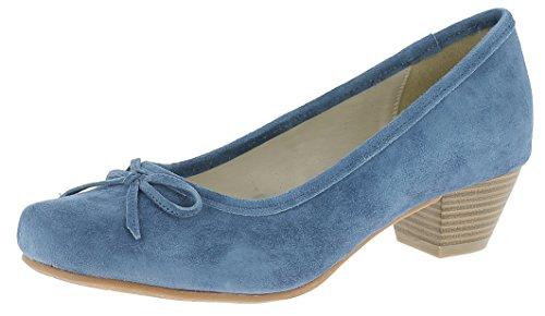 HIRSCHKOGEL Damen 3003401 Pumps, Blau (Jeans 274), 40 EU