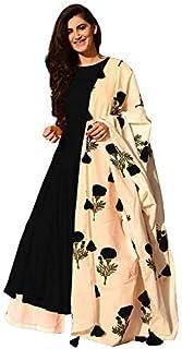 FEMEZONE Women's Rayon & Cotton Readymade Salwar Suit