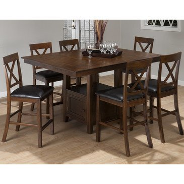 See Price For Jofran Olsen 7 Piece Counter Dining Room Set W