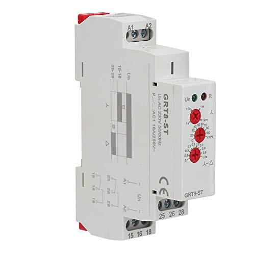 BJLWTQ GRT8-B2 retardo a la desconexión del relé de Tiempo, AC/Función DC12V-240V for Carril DIN relé Temporizador electrónico Mini en Tiempo Módulo de relé de Control Individual