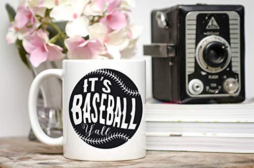 N\A Taza de béisbol Regalo de béisbol Jugador de béisbol Regalo de béisbol Divertido Regalo de béisbol para él es béisbol Yall