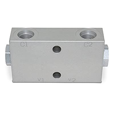 Double Pilot Operated Hydraulic Check Valve, #8 SAE Ports, 20 GPM by Summit Hydraulics