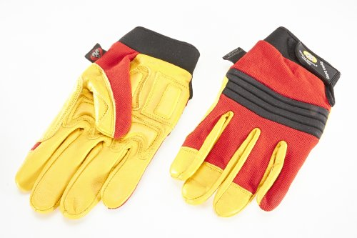 Piel de calidad guantes de mecánico/anti-vibración guantes/guantes anti Impact./ gel Acolchado guantes.