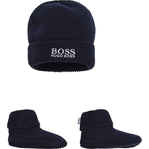 BOSS Mütze und Hausschuhe, Baumwolle Gr. 0 Monate, Bleu Cargo