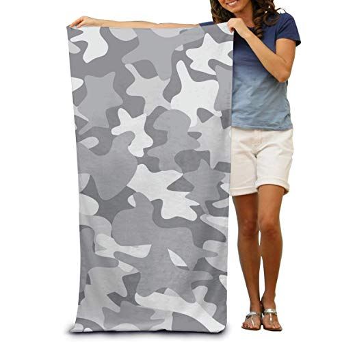 """DOKEVFOB City Camouflage Texture Microfiber Beach Towel -Ultra Soft Super Water Absorbent Multi-Purpose Beach Throw Towel Oversized 32"""" X 51"""""""