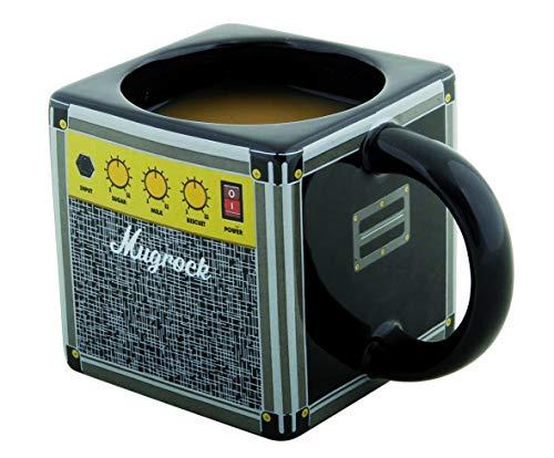 Gift Republic 11999 Verstärker Kaffeebecher, Mugrock, keramik, schwarz