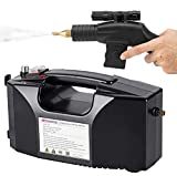 Moongiantgo Handheld Steam Cleaner for Cleaning Furniture Carpet Range Hood Air Conditioner Car Seats Kitchen Bathroom Home Use Steamer Machine 1600W 110V with Accessories (Black)