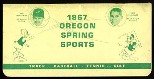 1967 Oregon Spring Sports Media Guide Baseball Track Field Ex Cond - College Programs