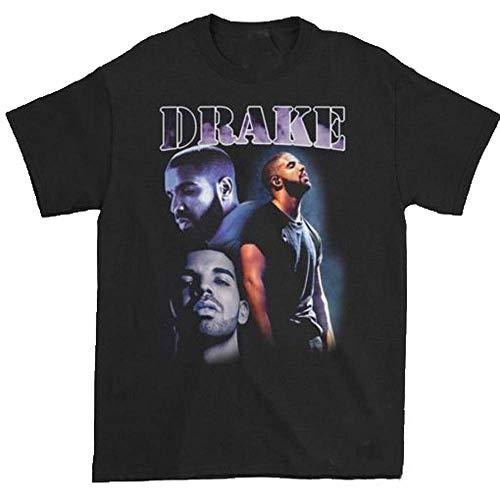 D_rake Life is Good Rapper T Shirt Men, Women Fashion T-Shirts Casual Crewneck Girl Tops Tee Black