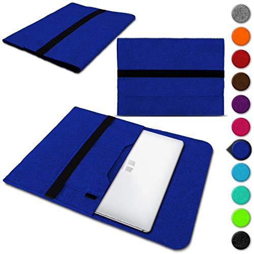 Nauci Laptop Schutzhülle für Trekstor Primebook C13 / P14 / P14B / P13 aus Filz mit Innentaschen Sleeve Hülle Tasche Cover Notebook Hülle Tasche, Farbe:Blau