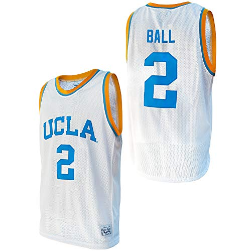 Elite Fan Shop Lonzo Ball Retro UCLA Basketball Jersey - Large - Lonzo Ball White