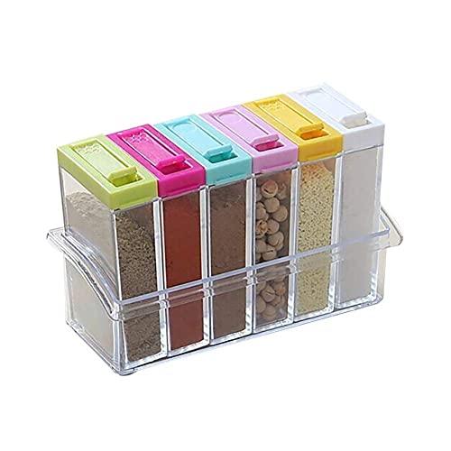 Spice Jars Spice Jar Kruidendoos 6 stks/set Keuken Spice Opbergfles Jars Spice Jar Transparent Salt and Pepper Cumin…