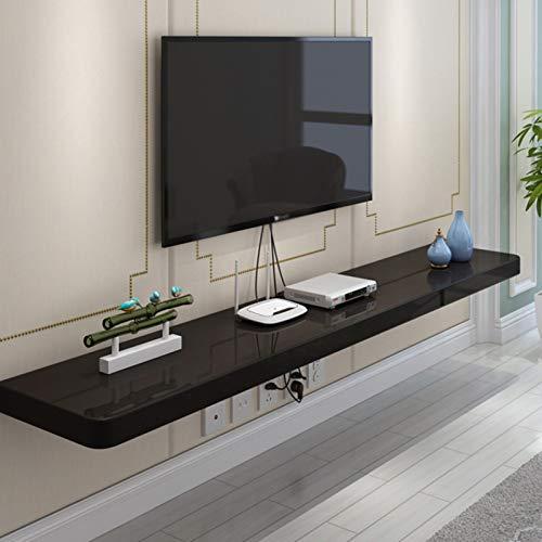 Mueble de TV flotante moderno,Estante flotante del mueble de TV montado en la pared del dormitorio de la sala de estar,Consola multimedia del centro de entretenimiento,Utilizado para DVD, enrutador