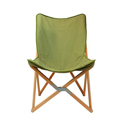 Mel Klappbarer Lounge Chair Lounge Chair Entspannen Sie Sich im Freien Klappstühle Butterfly Klappsessel Stoff Buche Stuhl Beach Green