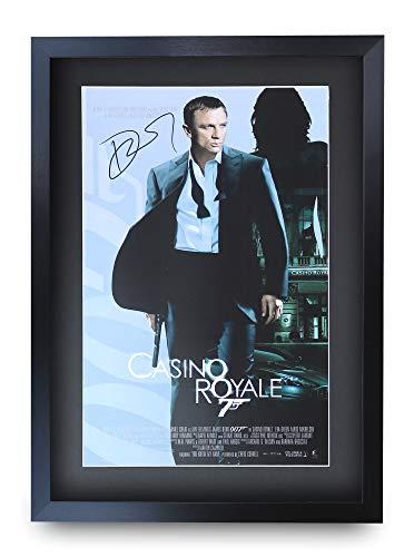HWC Trading James Bond 007 Gerahmtes oder ungerahmtes Geschenk, Autogramm, Casino Royale, A3