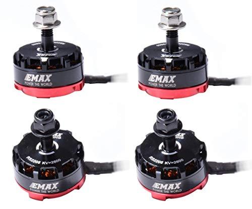 Crazepony 4pcs EMAX RS2205 2600KV Brushless Motor 3-4S 2CW...