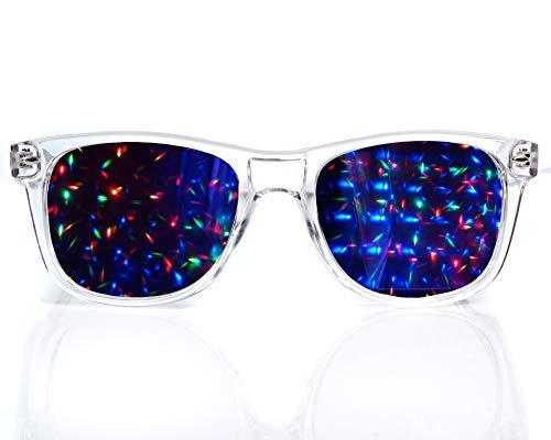 Transparent Starburst Diffraction Glasses - for Raves, Festivals & More