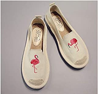 [Nofitting] 韓国サンダルレディース 刺繍 エスパドリーユ フラミンゴ Flamingo
