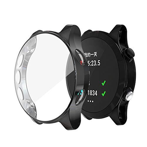 Coques Compatible avec Gar Min Forerunner 945/935 Smartwatch, Soft Plaqué TPU Anti-Rayures Bumper Coque de Protection Housse de Protection pour Gar Min Forerunner 945/935 Smartwatch (Noir)