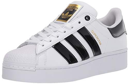 adidas Originals Women's Superstar Bold Sneaker, White/Black/Gold Metallic, 6.5