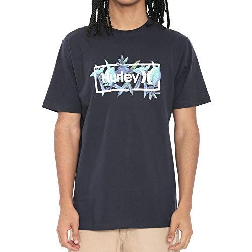 Camiseta Hurley Silk Brotanical Azul Marinho