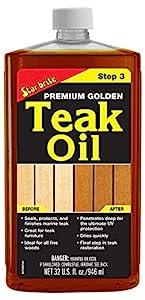 Premium Golden Teak Oil - Check Price on Amazon
