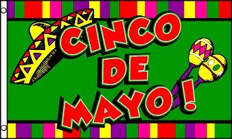 AZ FLAG Cinco De Mayo Flag 3' x 5' - Mexican May 5 Flags 90 x 150 cm - Banner 3x5 ft