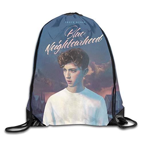 JYRJ AlexisW Troye Sivan Blue Neighbourhood Backpack Gymsack Drawstring Bags Sack Pack for Men & Women