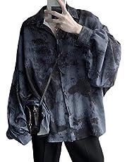 BeiBang(バイバン)メンズ シャツ ゆる 長袖シャツ カラフル ファッション トップス 春 秋 ストリート系韓国シャツ