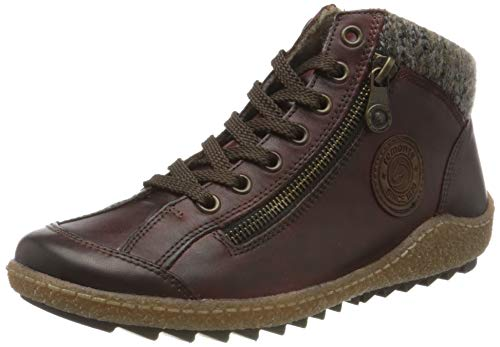 Remonte Damen R4775 Hohe Sneaker, Rot (Medoc/Brown/Graphit/Medoc 37), 40 EU