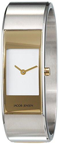 JACOB JENSEN Damen Analog Quarz Uhr mit Edelstahl Armband Eclipse Item NO. 442