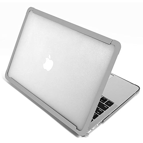 Two-Color Matte Frame Case For MacBook Air 13.3 2020 A2179 A1932 A2337 M1 13inch Case Hard Shell Cover for Mac Book A2338 (for Air 13 A2179,Gray)
