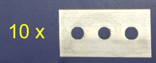 IIRIS Lot de 10 Lames de Rechange pour grattoir pour plaques de Cuisson en céramique Grattoir No 18 038