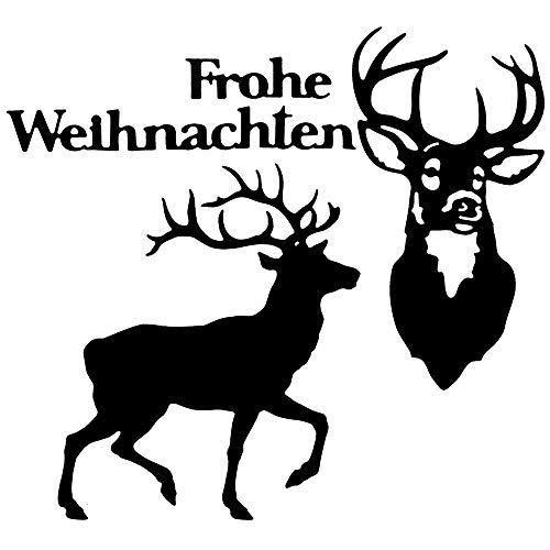Stanzschablonen   Hirsche & Frohe Weihnachten   4 Stück